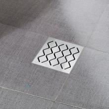 Ravak Příslušenství - Plastová podlahová vpusť s nerezovou mřížkou SN501, 105 mm X01435