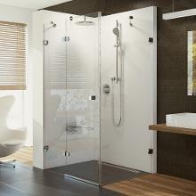 Ravak Brilliant - Sprchové dvere dvojdielne s pevnou stenou BSDPS-100x80 L, ľavé, 983mm – 995 mm, farba chróm, sklo transparent 0ULA4A00Z1