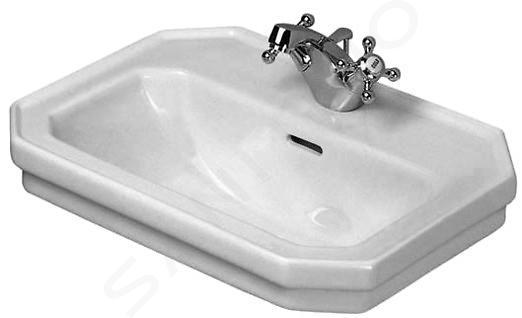 Duravit 1930 - Lave-mains un trou avec trop-plein, 500 mm x 365 mm, blanc - lave-mains 0785500000