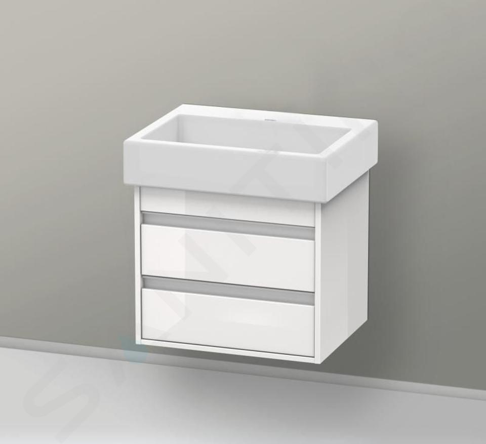 Duravit Vero - Lavabo Med, 600x470x165 mm, sans trop-plein, avec WonderGliss, blanc alpin 04546000701