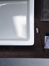Duravit Vero - Aufsatzwaschbecken, 595x465 mm,  ohne Hahnloch, mit WonderGliss, Alpinweiß 04526000601