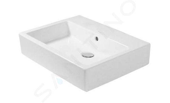 Duravit Vero - Vasque, 595x465 mm, sans trou pour robinetterie, avec WonderGliss, blanc alpin 04526000601