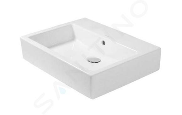 Duravit Vero - Vasque, 500x470, sans trou pour robinetterie, blanc alpin 0452500060