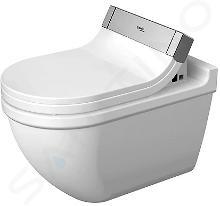 Duravit Starck 3 - WC suspendu pour SensoWash, avec WonderGliss, blanc 22265900001