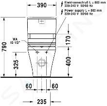 Duravit DuraStyle - Cuvette de WC à poser à installer avec réservoir, pour SensoWash, avec WonderGliss, blanc 21565900001