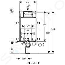 Geberit Kombifix - Installationselement Basic für Wand-WC, 108 cm, Unterputz-Spülkasten DELTA 12 cm 110.100.00.1