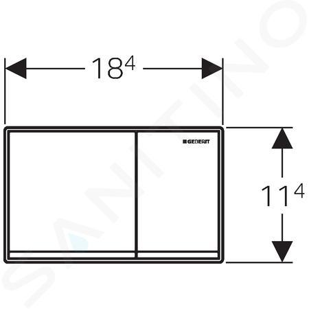 Geberit Omega60 - Plaque de déclenchement OMEGA60, chrome brossé 115.081.GH.1
