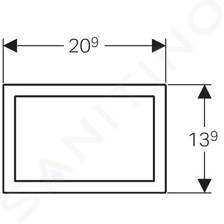 Geberit Omega60 - Cadre de recouvrement pour OMEGA60, chrome brossé 115.086.GH.1