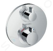 Hansgrohe Ecostat S - Thermostat-Duscharmatur - Unterputz mit Absperrventil, verchromt 15757000