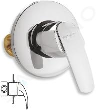 Novaservis Metalia 56 - Inbouw douchekraan, chroom 56050,0