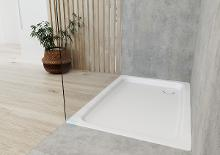 Kaldewei Ambiente - Sprchová vanička Duschplan 555-2, 800x1200 mm, antislip, Perl-Effekt, s polystyrénovým nosičem, bílá 448235003001