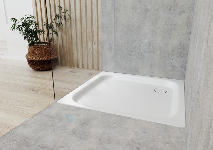 Kaldewei Ambiente - Obdélníková sprchová vanička Duschplan 554-1, 750 x 800 mm, bílá - sprchová vanička, antislip, Perl-Effekt, bez polystyrénového nosiče 448630003001