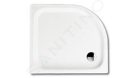 Kaldewei Advantage - Čtvrtkruhová asymetrická sprchová vanička Zirkon 501-1, 900 x 750 mm, bílá - sprchová vanička, bez polystyrénového nosiče 455500010001
