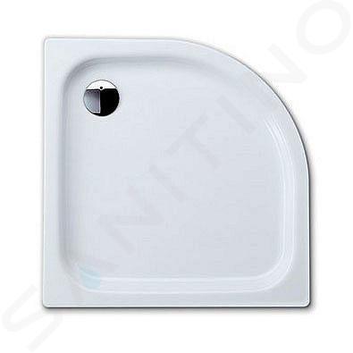Kaldewei Advantage - Čtvrtkruhová asymetrická sprchová vanička Zirkon 502-1, 750 x 900 mm, bílá - sprchová vanička, antislip, Perl-Effekt, bez polystyrénového nosiče 455630003001