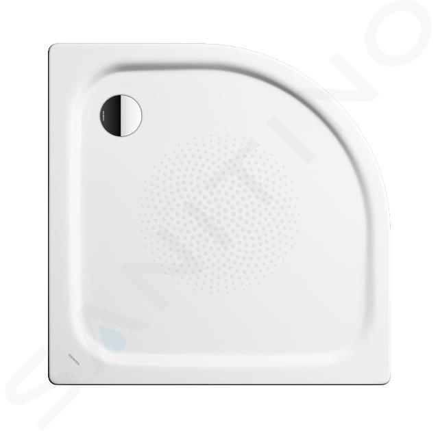 Kaldewei Advantage - Čtvrtkruhová asymetrická sprchová vanička Zirkon 601-1, 800 x 900 mm, bílá - sprchová vanička, antislip, bez polystyrénového nosiče 456630000001