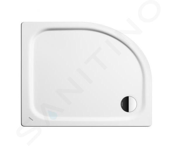Kaldewei Advantage - Čtvrtkruhová asymetrická sprchová vanička Zirkon 602-2, 800 x 1000 mm, bílá - sprchová vanička, Perl-Effekt, polystyrénový nosič 456748043001