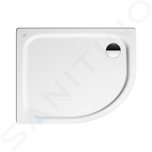 Kaldewei Advantage - Čtvrtkruhová asymetrická sprchová vanička Zirkon 605-2, 1000 x 800 mm, bílá - sprchová vanička, Perl-Effekt, polystyrénový nosič 457048043001