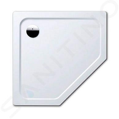 Kaldewei Avantgarde - Pětiúhelníková sprchová vanička Cornezza 672-1, 1000x1000 mm, Perl-Effekt, bez polystyrénového nosiče, bílá 459200013001