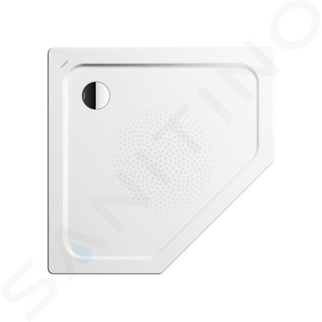 Kaldewei Avantgarde - Pětiúhelníková sprchová vanička Cornezza 673-1, 1000x1000 mm,  antislip, Perl-Effekt, bez polystyrénového nosiče, bílá 459330003001