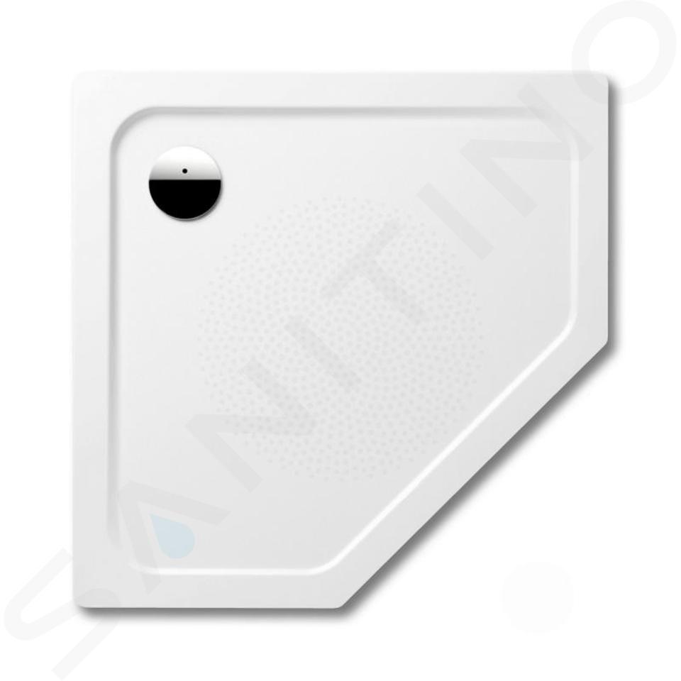 Kaldewei Avantgarde - Pětiúhelníková sprchová vanička Cornezza 673-2, 1000 x 1000 mm, bílá - sprchová vanička, antislip, polystyrénový nosič 459335000001