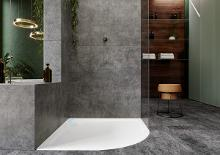 Kaldewei Ambiente - Čtvrtkruhová sprchová vanička Arrondo 870-1, 900x900 mm, antislip, Perl-Effekt, bez polystyrénového nosiče, bílá 460030003001