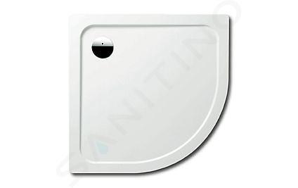 Kaldewei Ambiente - Čtvrtkruhová sprchová vanička Arrondo 870-2, 900x900 mm, Perl-Effekt, polystyrénový nosič, bílá 460048043001