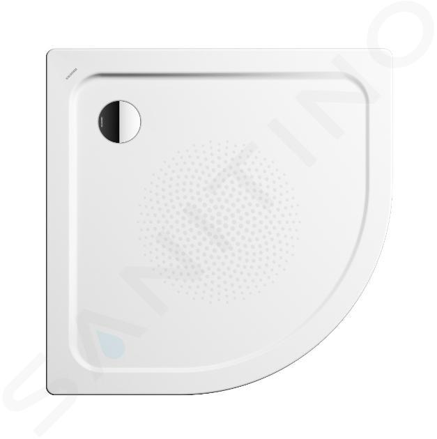 Kaldewei Ambiente - Čtvrtkruhová sprchová vanička Arrondo 873-2, 1000x1000 mm, antislip, Perl-Effekt, polystyrénový nosič, bílá 460335003001