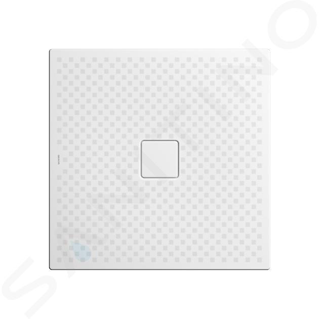 Kaldewei Avantgarde - Sprchová vanička Conoflat 780-2, 900x800 mm, celoplošný antislip, Perl-Effekt, s polystyrénovým nosičem, bílá 465035043001