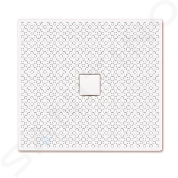 Kaldewei Avantgarde - Obdélníková sprchová vanička Conoflat 854-1, 1000 x 1100 mm, bílá - sprchová vanička, celoplošný antislip, Perl-Effekt, bez polystyrénového nosiče 467030023001