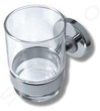 Novaservis Mephisto - Supporto con bicchiere, cromo/vetro 6806,0
