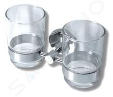 Novaservis Mephisto - Dubbele glazen houder, chroom/glas 6857,0