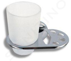 Novaservis Metalia 1 - Porte verre et brosses à dents, chrome/verre 6149,0