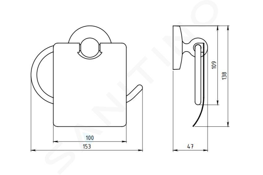 Novaservis Metalia 1 - Porte-rouleaux avec couvercle, chrome 6138,0