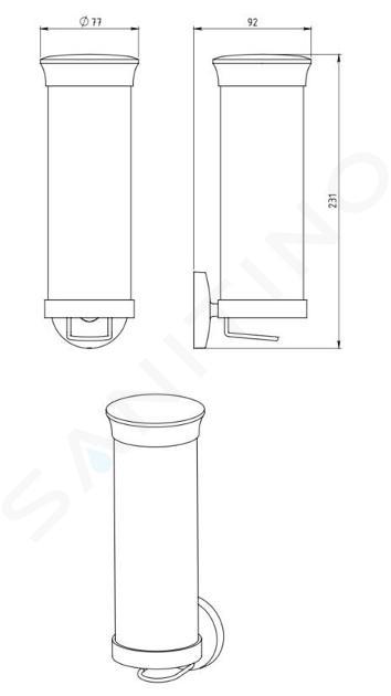 Novaservis Metalia 1 - Distributeur de tampons démaquillants, verre/chrome 6172,0