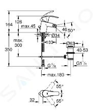Grohe Eurosmart - Mitigeur de bidet S, chrome 32929002
