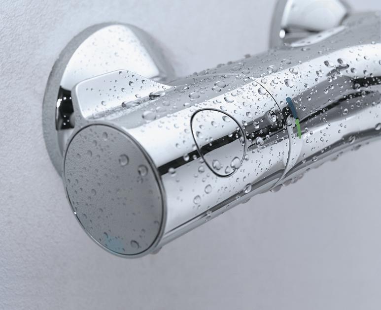 Grohe Grohtherm 800 - Thermostatische opbouw badmengkraan, chroom 34567000