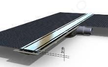 I-Drain Level-3 - Rošt z nehrdzavejúcej ocele na sprchový žľab Level-3 brúsený, dĺžka 1000 mm IDRO1000Z