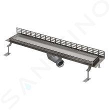 Sanela Nerezové žlaby - Sprchový žlab ke stěně, délka 1150 mm, nerez SLKN 16