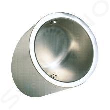 Sanela Orinali in acciaio inox - Orinale anti-vandalismo con risciacquo nascosto, alimentazione a batteria 6 V, acciaio inox SLPN 09CB