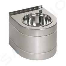 Sanela Nerezové pitné fontánky - Nerezová pitná fontánka závěsná s automaticky ovládaným výtokem, bateriová SLUN 14EB