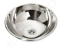 Sanela Nerezová umyvadla - Nerezové zápustné umyvadlo s přepadem, průměr 360 mm SLUN 45