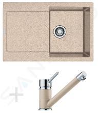 Franke Sety - Kuchynský set G71, granitový drez MRG 611, pieskový melír + batéria FG 7477, pieskový melír 114.0365.273