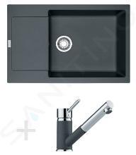 Franke Sety - Kuchynský set G78, granitový drez MRG 611-78 BB, grafit + batéria FG 7486, grafit 114.0365.697