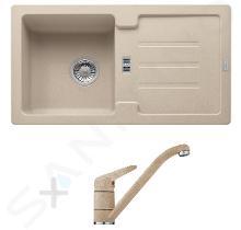 Franke Set - Set da cucina G89, lavello in granito STG 614-78, riflessi di sabbia + miscelatore FC 9541, riflessi di sabbia 114.0366.003