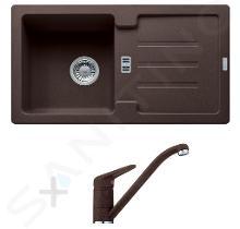 Franke Set - Set per cucina G89, lavello in granito STG 614-78, marrone scuro + miscelatore FC 9541, marrone scuro 114.0366.007