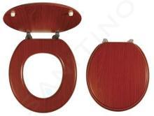 Novaservis Prestige - Abattant en bois plaqué, noyer lyre WC/ORECHLYRA