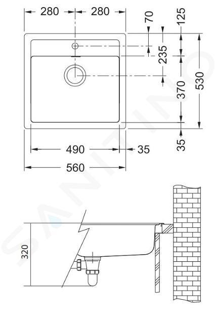 Franke Sets - Keukenset T25, SID 610 tectonite spoelbak, zwart + FP 9900 keukenkraan, grafiet 114.0366.029
