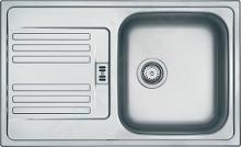 Franke Euroform - RVS spoelbak EFL 614-78, 780x475 mm + sifon 101.0286.768