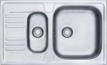 Franke Euroform - Lavello in acciaio inox EFN 651-78, 780x475 mm + sifone 101.0250.587