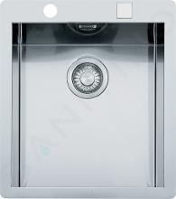 Franke Planar - Lavello in acciaio inox PPX 210/610-44 TL, 440x512 mm + sifone 127.0203.470